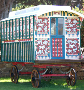 The original gypsy caravan which inspired our logo.